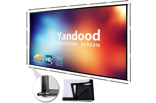 Yandood Portable Projector Screens withSide Pole Support
