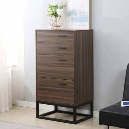 SogesPower Standing Storage Cabinet Wood