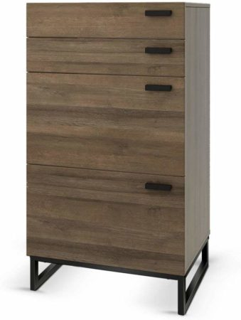 WLIVE 4 Drawer High Dresser