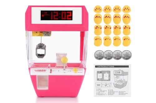 1. Fdit Claw Toy Grabber, Indoor Arcade Games with Alarm Cloock, Mini Candy Claw Toys Arcade Crane Machine for 1 2 3 4 5 Year Old Boys Girls Best Gift