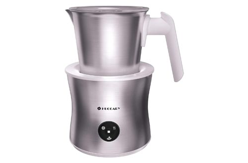 1. Huogary Milk Frother, 4-in-1 Electric Automatic Milk Steamer and Machine