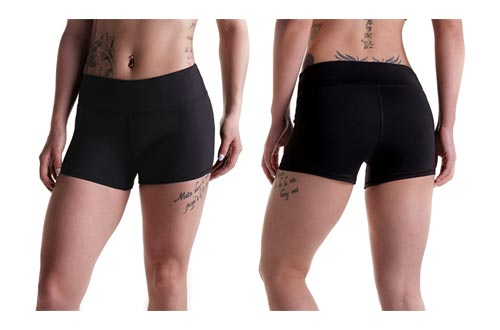 10. Tough Mode Apparel Womens Athletic Workout Volleyball CrossFit Running WOD Shorts