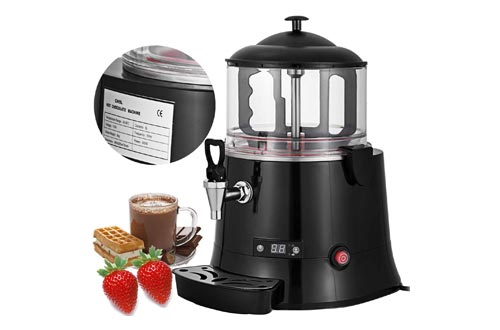 10. VEVOR Commercial Hot Chocolate Machine 400W Chocolate Beverage Dispenser 5 Liter Hot Chocolate Maker