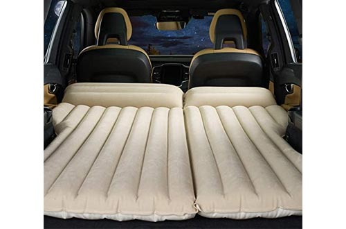 2. HOMETAK Car Air Mattress Bed for Truck SUV Trunk Long Size Inflatable Pad Camping Electric Pump