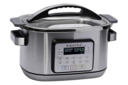2. Instant Pot Aura Pro 11-in-1 Multicooker, Slow Cooker, Rice Cooker, Grain Maker, Steamer, Saute, Yogurt Maker, Stew, Bake, Roast, and Warmer