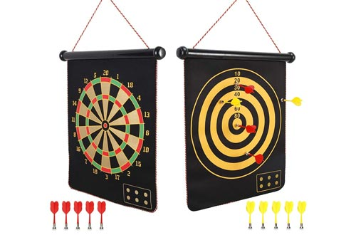 2. Mixi for Kids, Indoor Outdoor Game Double Sided Games Set