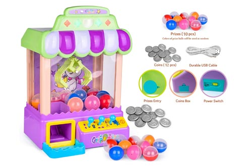 3. FunLittleToy Easter Egg Mini Claw Machine Easter Game Toy with Light and Sounds, Electronic Claw Toy Grabber Machine
