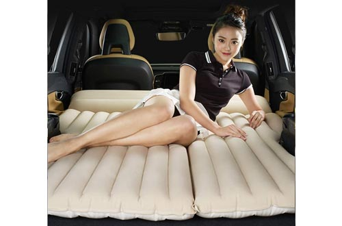 3. LUOOV Multifunctional Car SUV Air Mattress Camping Bed, Outdoor SUV Dedicated Mobile Cushion