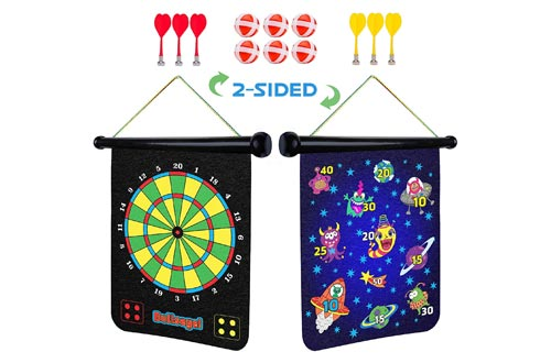 3. 2 Sided Roll up Dartboard, Indoor Games for Kids