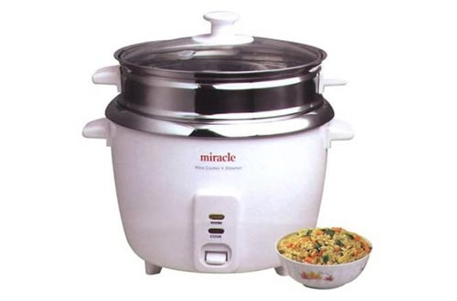 3. Miracle Exclusives Stainless Steel Rice Cooker Model ME81, Formerly ME8