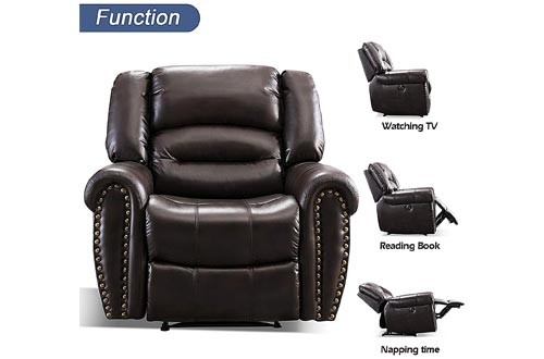 4. ANJ Electric Recliner Chair, Breathable Bonded Leather, Classic Single Sofa Home Theater Recliner Seating, Nursing Chairs