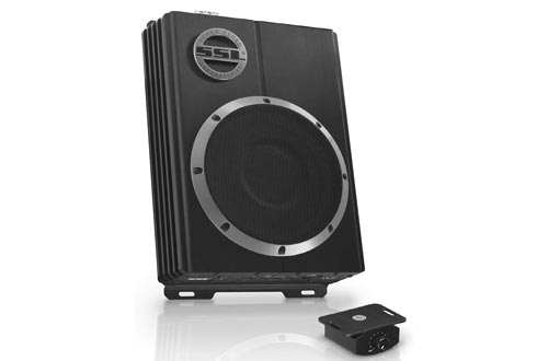 4. Sound Storm Laboratories LOPRO10 Amplified Car Subwoofer - 1200 Watts Max Power, Low Profile, 10 Inch Subwoofer