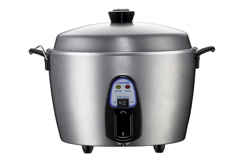 4. Tatung - TAC-11KN, UL - 11 Cup Multi-Functional Stainless Steel Rice Cooker - Silver