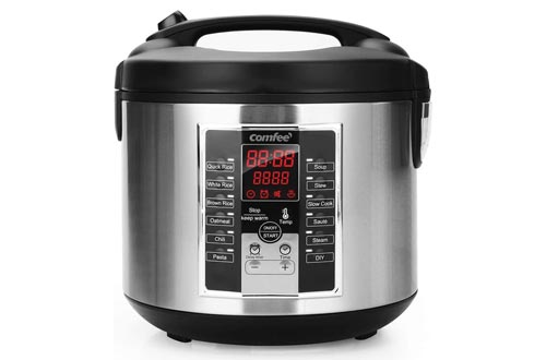 5. COMFEE' Rice Cooker, Slow Cooker, Steamer, Stewpot, 12 Digital Cooking Programs, Multi Cooker with 20 cups cooked rice. 24 Hours Preset & Instant Keep Warm
