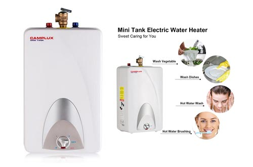 5. Camplux ME40 Mini Tank Electric Water Heater 4-Gallon, 120 Volts by CAMPLUX ENJOY OUTDOOR LIFE