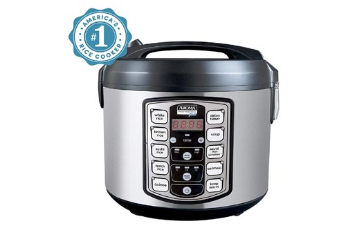 6. Aroma Housewares ARC-5000SB Digital Rice, Food Steamer, Slow, Grain Cooker, Stainless Exterior, Nonstick Pot