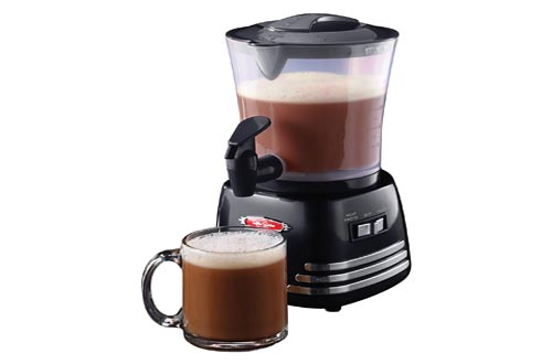 6. Nostalgia HCM700 Hot Chocolate, Milk Frother, Cappuccino Latte Maker and Dispenser