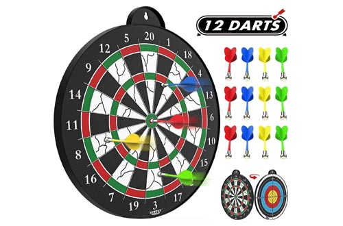 6. STREET WALK Magnetic Dart Board - 12pcs Magnetic Dart - Excellent Indoor Game and Party Games