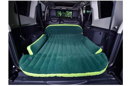 6. WOLFWILL SUV Dedicated Mobile Cushion Extended Travel Mattress Air Bed Inflatable Thicker Back Seat