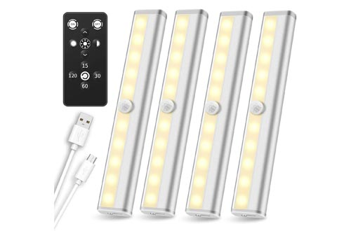 6. under Cabinet Remote Control, SZOKLED Rechargeable Closet Dimmable Under Counter