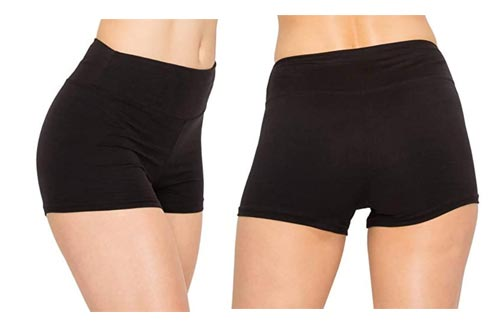 7. ALWAYS Women Workout Yoga Shorts - Premium Buttery Soft Solid Stretch Cheerleader Running Dance Volleyball Short Pants