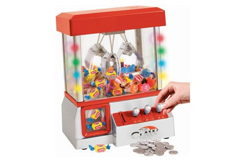7. Carnival Crane Claw Game - Features Animation and Sounds for Exciting Pretend Play by Constructive Playthings