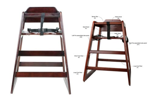 7. Excellante' Wooden High Chair, Walnut, Packaging May Vary