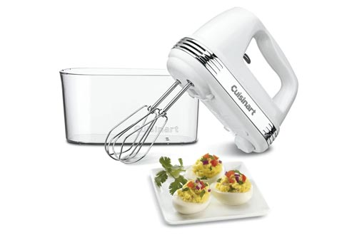 8. Cuisinart HM-90S Power Advantage Plus 9-Speed Handheld Mixer with Storage Case, White