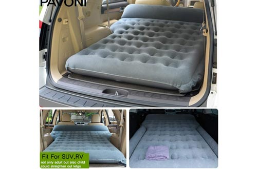 8. PAVONI Car Inflatable Air Camping Mattress Pad – with Electric Mattress Pump