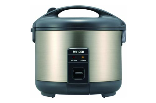 8. Tiger JNP-S10U-HU 5.5-Cup Rice Cooker and Warmer, Stainless Steel Gray by Tiger Corporation