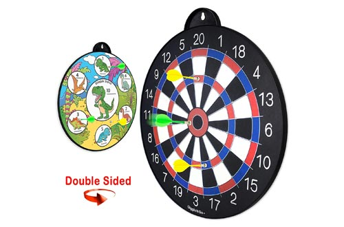 9. GIGGLE N GO Reversible Magnetic Dart Board for Kids - Excellent Indoor Game, Will Make a Great Gift