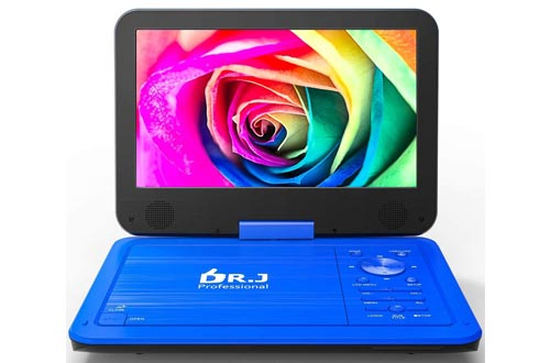 1. DR. J 12.5 Portable DVD CD Player 10.5 HD Swivel Screen with 5 Hours Rechargeable Battery