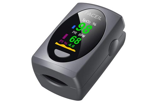 1. Pulse Oximeter Fingertip, Digital Blood Oxygen Saturation Monitor for Heart Rate Monitor and SpO2 Levels - Finger Pulse Oximeters