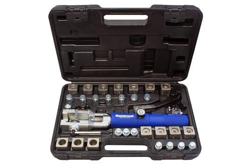 10. MASTERCOOL 72475-PRC Blue and Silver Universal Hydraulic Flaring Tool Set with Tube Cutter