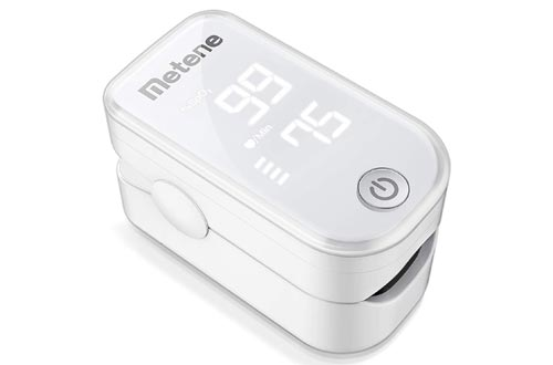10. Metene Pulse Oximeter Fingertip, Blood Oxygen Saturation Monitor with Pulse Rate