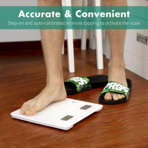 10.1byone Scales Digital Weight and Body Fat Scale, Bluetooth Bathroom Scale Track Key Body Compositions, 400lbs