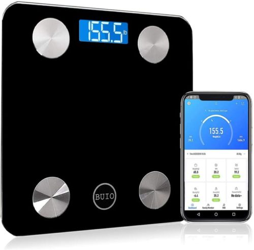 15.BUIO Platinum Smart Bluetooth Scale - Digital Bathroom Weight Scale for Body Fat, BMI, Muscle Mass
