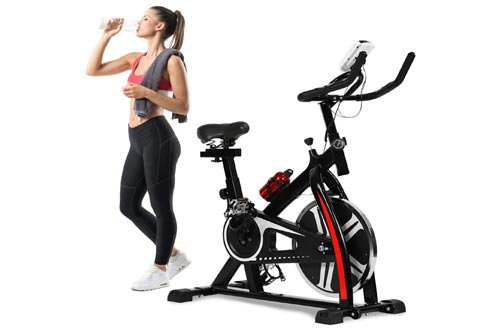 2. Exercise Bike Recumbent Spin Cycling Bike Indoor Cycle Stationary Workout Equipment with Pulse LCD Display