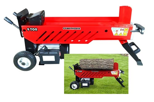 2. Powerhouse Log Splitters XM-580 9 Ton Electric Hydraulic Horizontal Log Splitter
