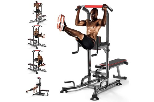 3. Power Tower Pull Up with Bench Home Gym Sit Up, Stands, Pull Up Bars, Push Up Bars, Chin Ups