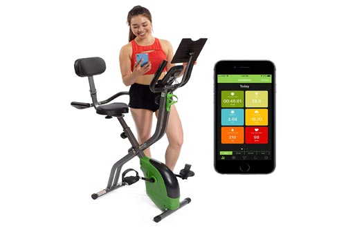 3. ShareVgo Bluetooth Smart Folding Semi Recumbent Magnetic Upright Exercise Bike with free APP for Indoor Bike
