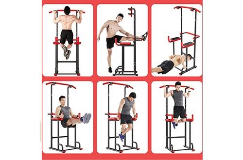 4. Power Tower Parallel Bars Adjustable Pull Up Bar Home Gym Strength Training Workout Multi Function Equipment
