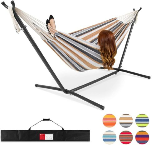 4.Best Choice Products 2-Person Indoor Outdoor Brazilian-Style Cotton Double Hammock Bed