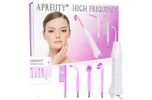 5. APREUTY Portable Handheld High Frequency Facial Wand Device Violet Ray Argon Acne