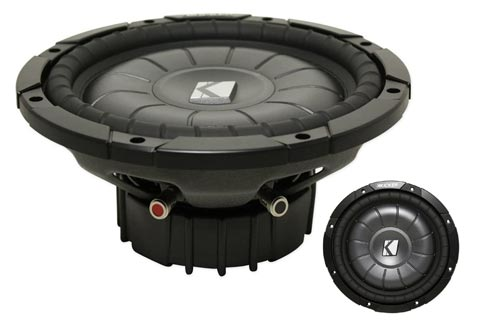 5. Kicker 10CVT104 10-Inch CompVT Series Shallow Mount Subwoofer