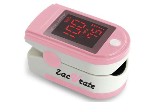 5. Zacurate Pink Series Fingertip Pulse Oximeter and Blood Oxygen Saturation Monitor, Blushing Pink - Finger Pulse Oximeters