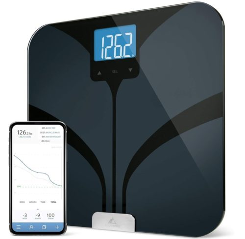 5.GreaterGoods Bluetooth Connected Body Fat Bathroom Smart Scale