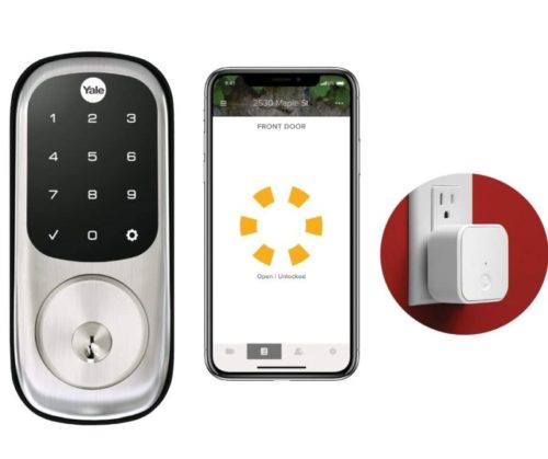 5.Yale Assure Lock Touchscreen with Wi-Fi and Bluetooth Deadbolt - Works with Amazon Alexa, Google Assistant, HomeKit