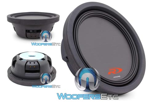 6. Alpine Swr-t10 10-Inch 1800 Watt 4 Ohm Shallow Mount Subwoofer