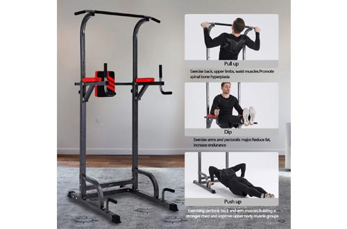 6. Power Tower Multi-Function Pull Up Bar for Home Gym Workout Training Fitness Exercise Equipment
